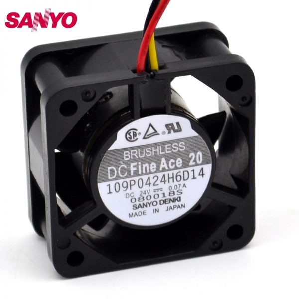 SANYO 4020 cooling fan 24V 109P0424H6D14 numerical control machine tool inverter fan 5 pcs/lot