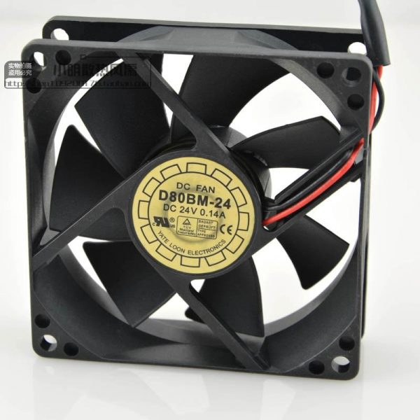 Free Delivery. 8025 D80BM - 24 24 v 0.14 A double ball conversion cooling fan 80 * 80 * 25 mm