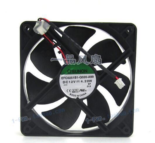 SUNON 12025 EFC0251B1-Q020-A99 120*120*25MM DC 12V 4.20W 12CM 2-wire Cooling Fan