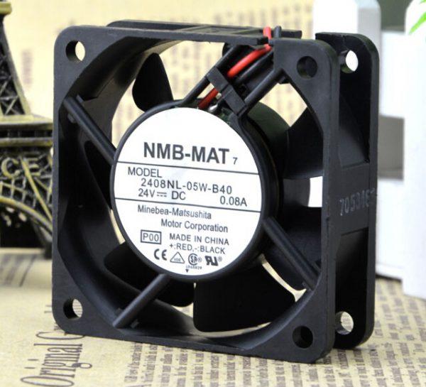NMB 6020 24V 0.08A 6 cm mute 2 wire inverter fan 2408NL-05W-B40