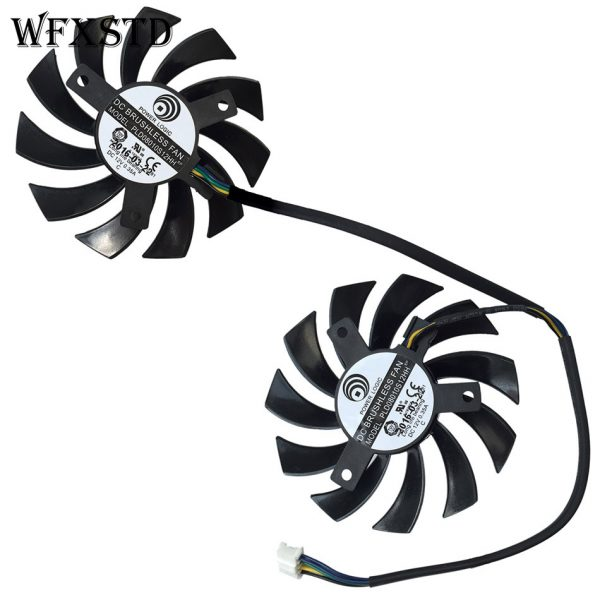New Original Cpu Cooling Fan For MSI R6850 R6870 R6790 460GTX 560GTX 570GTX 580GTX Brushless Cooler Radiators PLD08010S12HH