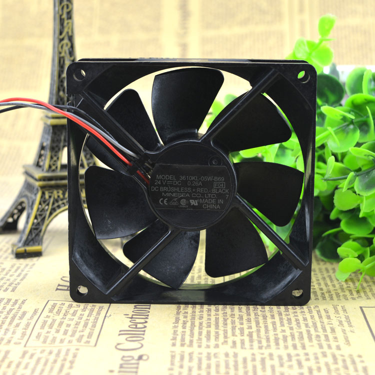 NMB 3610KL-05W-B69/60 DC24V 0.26A 9cm large airflow inverter fan