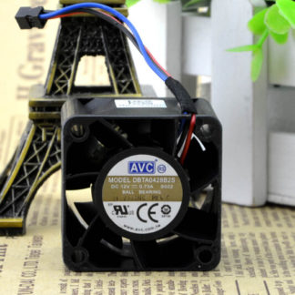 The original AVC DBTA0428B2S 40*40*28 4CM 12V 0.73A dual ball fan