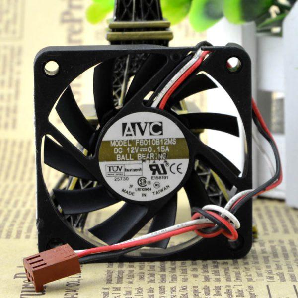 Original AVC F6010B12MS 6010 60X60X10mm DC 12V 0.15A Dual Ball Bearing cooling fan