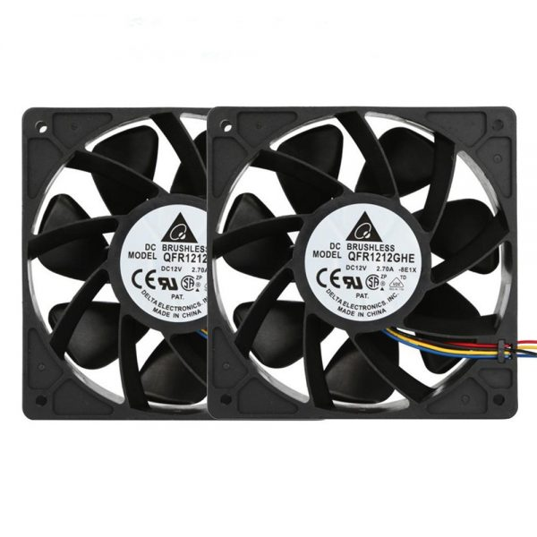 Hot sale 2x 6000RPM pc cpu cooler 120 mm fan Cooling Fan Replacement 4-pin Connector For Antminer Bitmain S7 S9 for video card