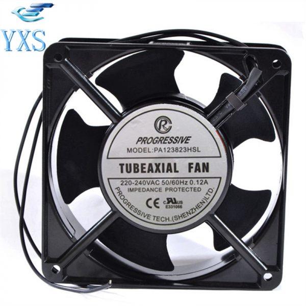 PA123823HSL AC 220V-240V 0.12A 50/60HZ 2 Wires 20/19W 2950RPM 12038 12CM 120*120*38mm Cabinet Cooling Fan