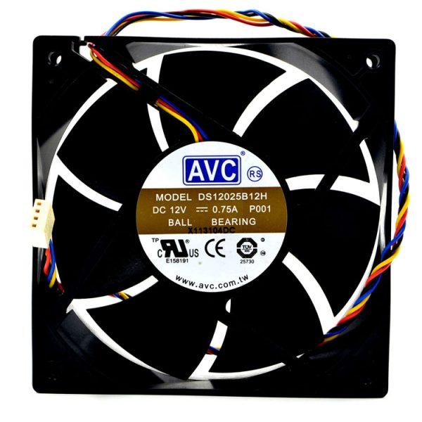Original AVC DS12025B12H P001 DC 12V 0.75A 12cm 120mm 12025 PWM Cooling Fan