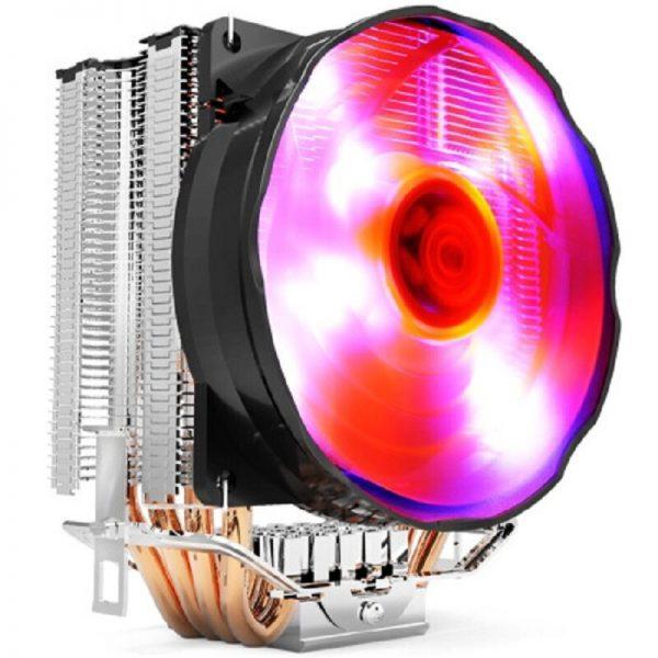 Pccooler S90F 4 Copper Heatpipes CPU cooler for intel 775 115X AMD AM4 AM3 CPU radiator 10cm 4pin PWM cooling CPU fan PC quiet