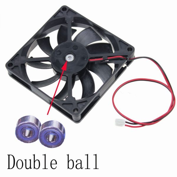Gdstime 5 pcs PC Computer Fan 80x80mm 8cm DC 12V Ball Bearing Axial Cooling Radiator Cooler 80mm x 15mm