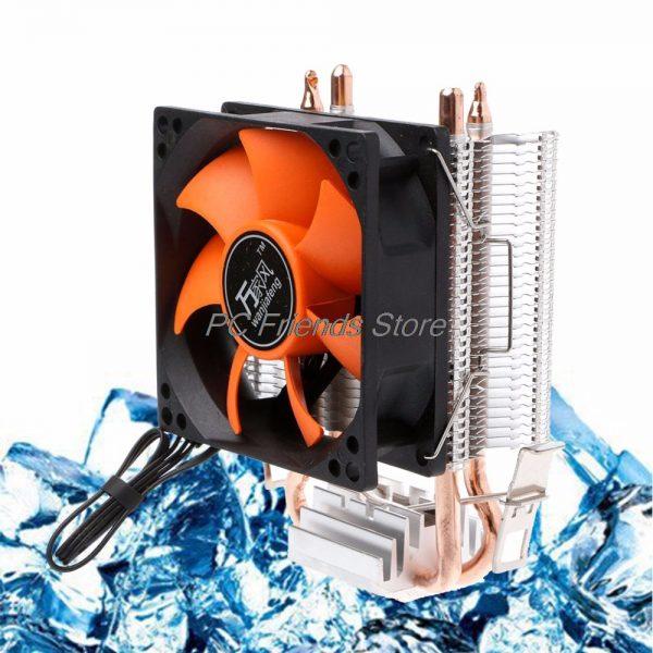 2 Heatpipe Aluminium PC CPU Cooler Cooling Fan For Intel 775/1155 AMD 754/AM2-PC Friend