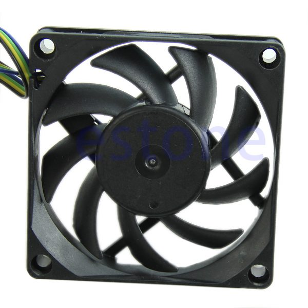 70mm x 15mm Brushless Fan DC 12V 4 Pin 9 Blade Cooling Cooler Brushless PC Computer Case Cooler Cooling Fan