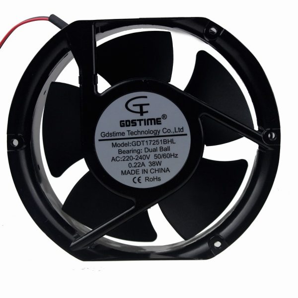 3PCS Gdstime 170mm Fan AC 220V 240V Axial 17251 Industrial Case Cooling Fans
