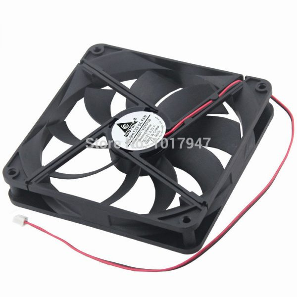 10Pieces LOT Gdstime 14025 12V 2Pin 14cm 140mm x 25mm New Axial Duct Cooler Cooling Fan