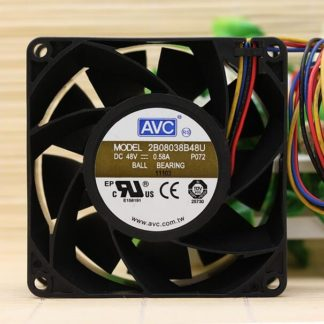 Original AVC 2B08038B48U 8038 DC 48V 0.58A 8cm 4-line PWM dual ball cooling fan