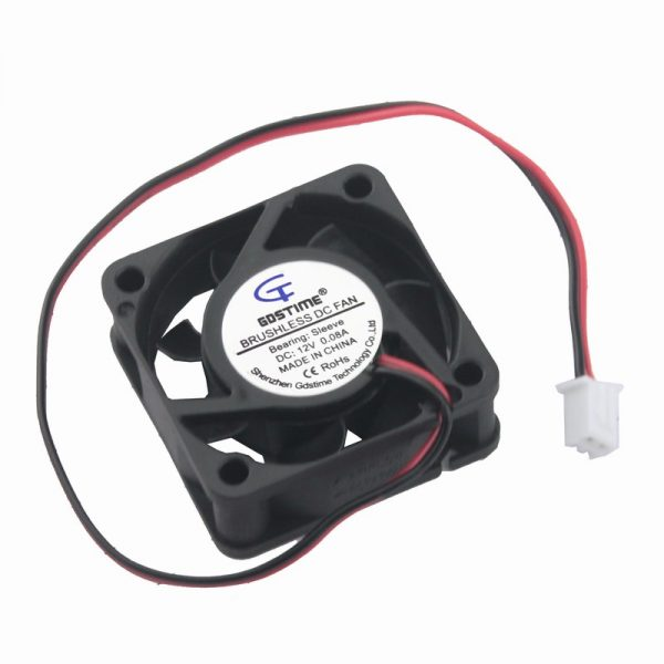 5 Pieces Gdstime 40mm DC Fan 12V 40x40x15mm 4cm 2Pin Connector Small Case Brushless Cooling Fan Cooler Radiator 2 Wire