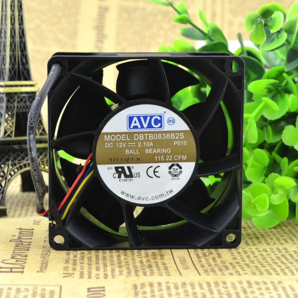 New original DBTB0838B2S 8038 12V 2.10A PWM temperature control high-speed wind volume fan
