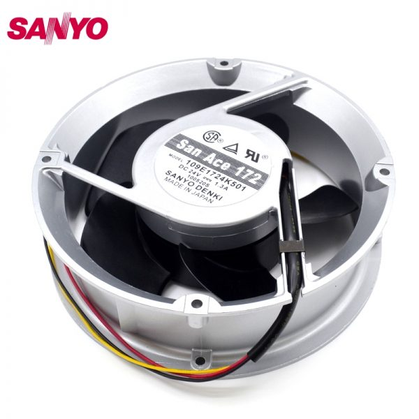 SANYO New DC cooling fan inverter DC24V 1.3A 17CM fan 109E1724K501 172 * 172 * 50mm