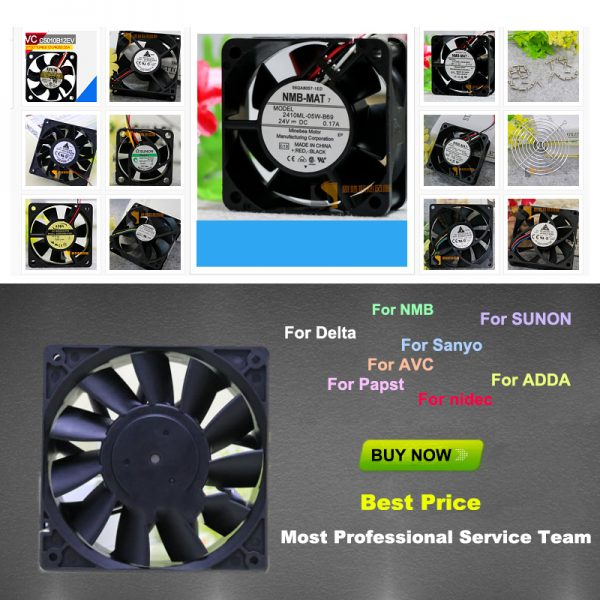 For Delta AFB0624VHB DC24V 0.16A 6CM / cm Double ball inverter cooling fan