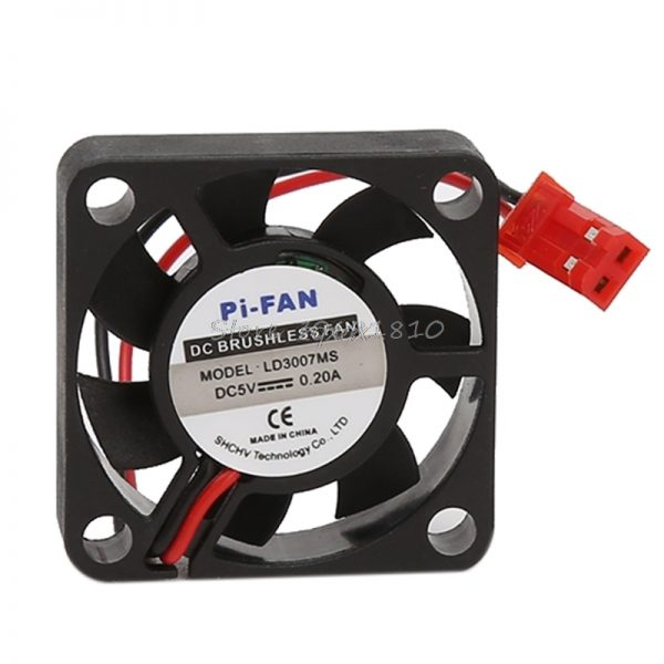 DC 5V/12V Small 2Pin Brushless 2-Wire 3007S Axial Cooler Cooling Fan 30*30*7mm Z17 Drop ship