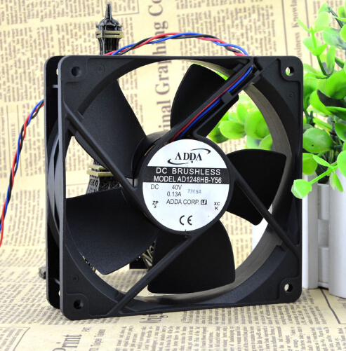 ADDA AD1248HB-Y56 40V 0.13A 12CM 120*120*32 three line dual ball cooling fan