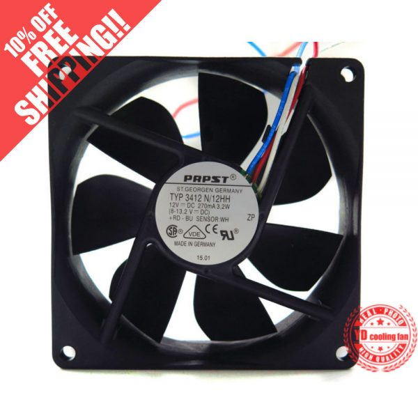 NEW FOR EBMPAPST TYP 3412N/12HH 12V 3.2W cooling fan