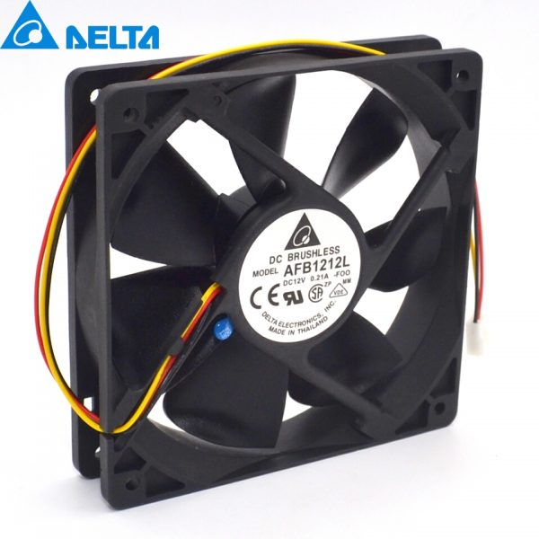 Delta New and Original AFB1212L-FOO 12025 12V 0.021A thermostat speed dual ball bearing fan for 120*120*25mm