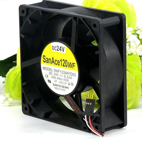 For Sanyo 9WF1224H1D03 A90L-0001-0509 120*120*38mm DC24V 0.32A cooling fan