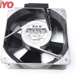 Sanyo 109-602 16050 160mm 16cm 37.5/33W 200V inverter server axial cooling fans