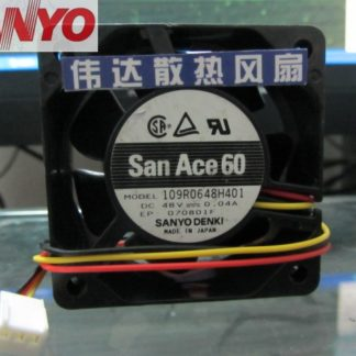 Original Sanyo 109R0648H401 6025 60mm 6cm DC 48V 0.04A quiet silent dc brushless cooling fans