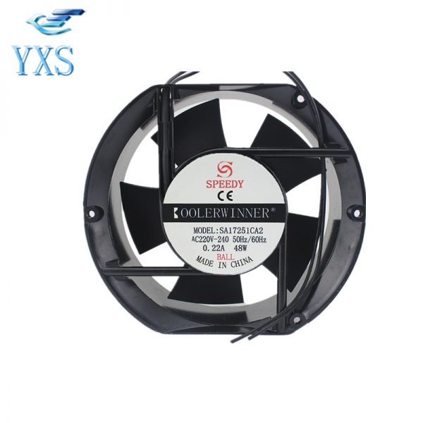 SA17251CA2 AC 220V-240V 0.22A 48W 50/60HZ 2 Wirs 17cm 17251 172*150*51mm Cabinet Cooling Fan