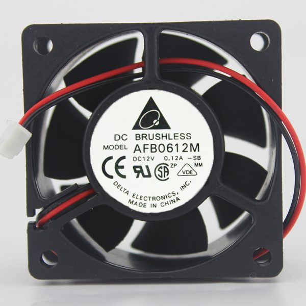 AFB0612M 12V 0.12A for Delta 2-wire ball power supply fan 60 * 60 * 25MM
