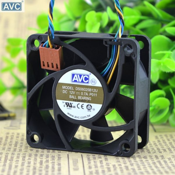 AVC DS06025B12U P011 60mm 6cm DC 12V 0.70A Pwm server inverter cooling fan