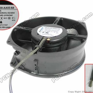 ebmpapst W2S130-AA03-64 Server Round Cooling Fan AC 230V 45W 172x150x55mm 2-wire