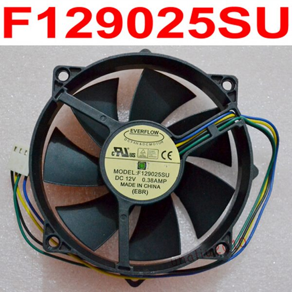 F129025SU 9025 90/80mm x 25mm 12V 4Pin 0.38A Round CPU Fan Cooler radiator For Computer Cooling