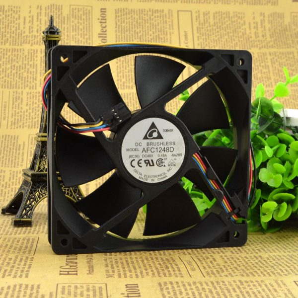 New original 12025 double ball 12CM industrial fan 48V 0.48A AFC1248D