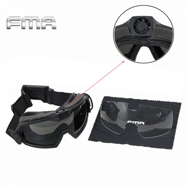 Tactical Fan Version Cooler Airsoft Glass Regulator Goggles Ski Snowboard Bike Sports