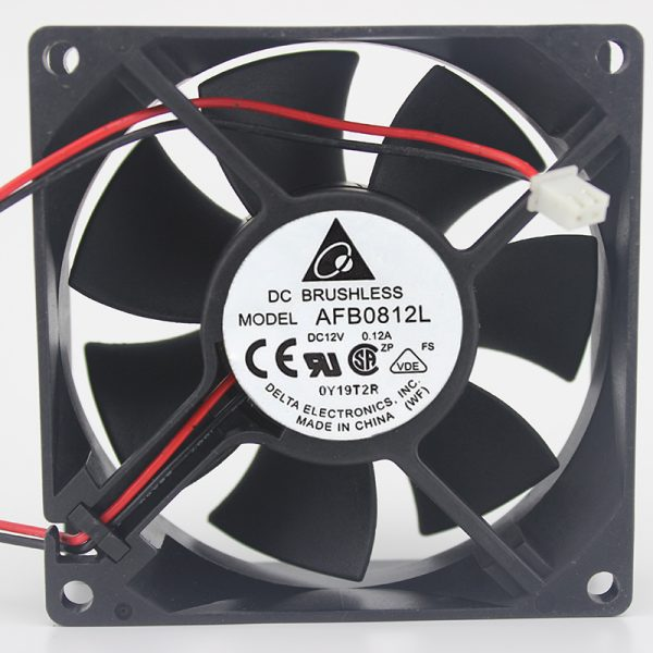 For Delta AFB0812L 8CM 8025 12V 0.12A CPU chassis power supply computer fan