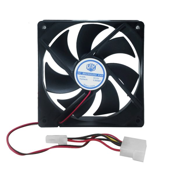 PC Computer Case 12025s 12cm 120mm 120x25mm DC 12V black 4Pin male/female Cooling Fan