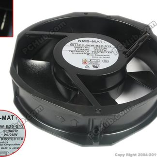 NMB-MAT 5915PC-20W-B20 S12 AC 200V 28W 172X150X38mm Server Round Fan