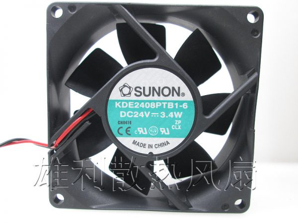 Free Delivery. Original 8CM 8025 24V 3.4W KDE2408PTB1-6 2-wire inverter cooling fan