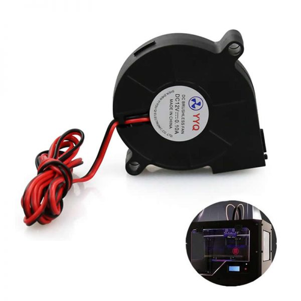Laptop Cooling Fan 12V DC 50mm Blow Radial Cooling Fan Hotend Extruder For RepRap 3D Printer