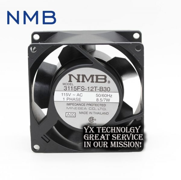 NMB Original new 3115FS-12T-B30 8038 8cm 115V 7W industrial cooling fan drive 80 * 80 * 38mm