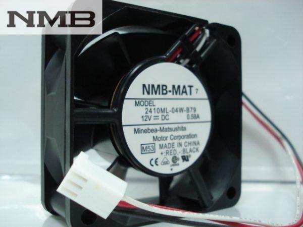 NMB 2410ML-04W-B79 -F62 6025 60x60x25mm 6cm DC 12V 0.58A 3Wire server inverter Cooling fan