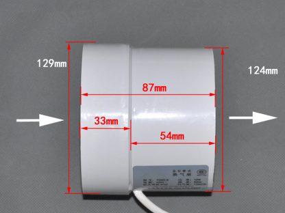 5 inch 5'' 125-130mm Kitchen Toilet Wall Circular Exhaust Fan Powerful Mute Axial Flow Fan Ventilator