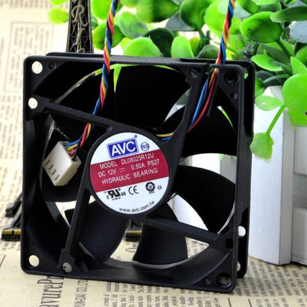 Original AVC DS08025R12U 8025 8cm 80*80*25mm DC 12V 0.7A PWM computer server inverter chassis cooling fans cooler