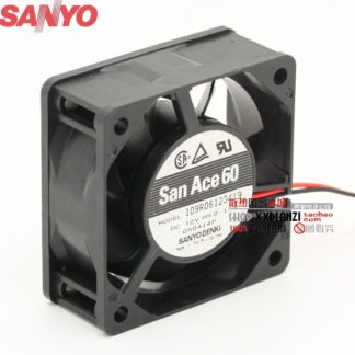 Sanyo 109R0612S419 6025 6cm 12V 0.17A silent dual ball bearing chassis fan