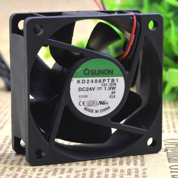 Free Delivery.KD2406PTB1 6025 6 cm 24 v 2.6 W inverter fan by the server
