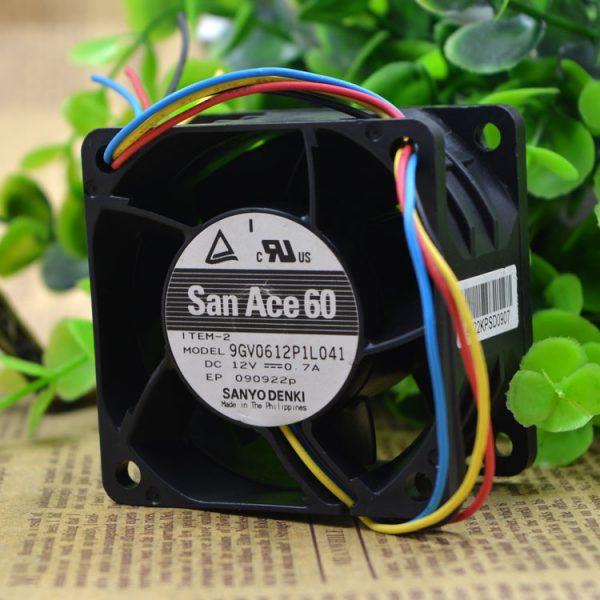 Free Delivery. 9 gv0612p1l041 12 v 0.7 A 6 cm 6038 four-wire PWM temperature control fan