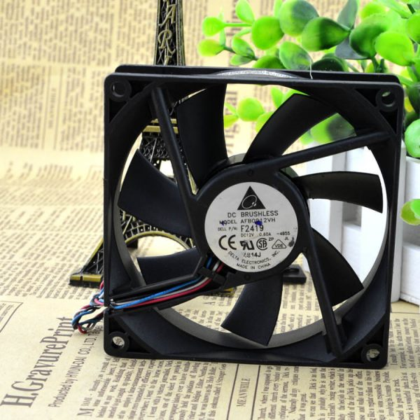 The original Delta AFB0912VH DC12V 0.60A 9cm 9025 92*92*25MM 3 line of air cooling fan