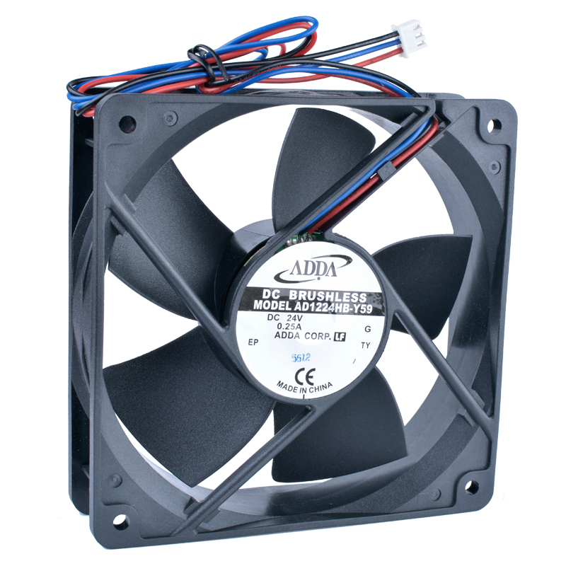 ADDA AD1224HB-Y59 DC24V 0 25A Double ball bearing inverter cooling fan